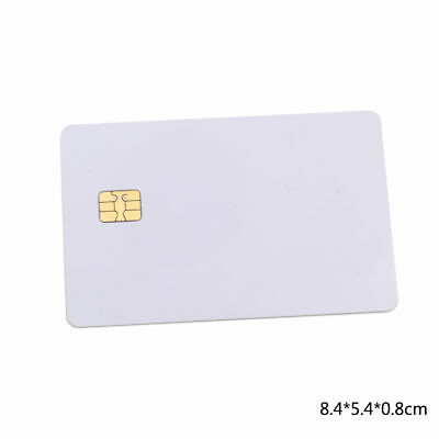 50Pcs ISO PVC IC With SLE4442 Chip Blank Smart Card Contact IC Card Safety White