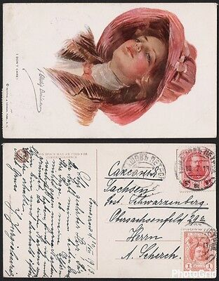 "Russia 1913 On Philip Boileau ""i Don't Care"" Postcard F Vf"