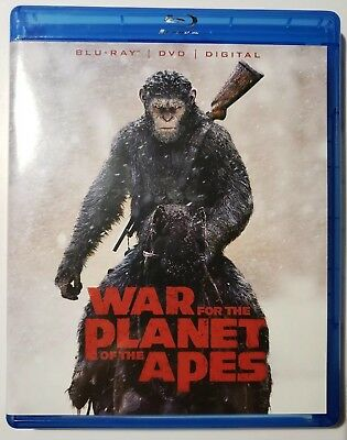 War for the Planet of the Apes (Blu-ray/DVD, 2017, 2-Disc Set, + Digital  NEW