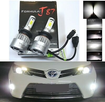 LED Kit N2 72W H7 6000K White Two Bulbs Head Light High Beam Replace Upgrade OE