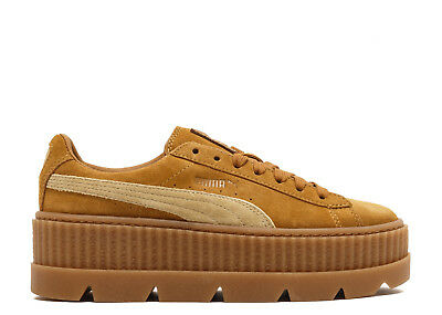 Puma Fenty x Rihanna Cleated Creeper Suede womens platform shoes 366268 02  brown 38d0c9508