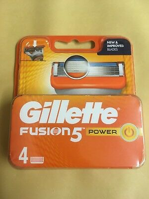 GILLETTE FUSION 5 POWER RAZOR BLADES 4 PACK (Without Packaging)