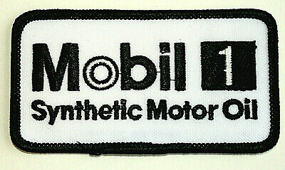 Mobil 1 Synthetic Motor Oil & Gas Cloth Car Jacket Uniform Patch New NOS 1990s