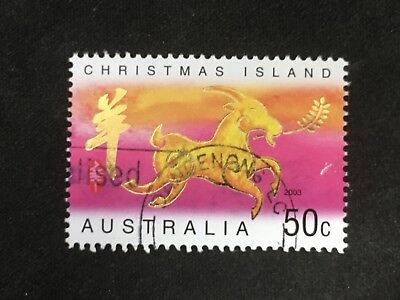 2003 Christmas Island Year Of The Goat 50C Stamp - Fine Used