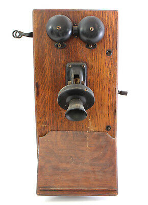 Antique Western Electric Wood Mount Wall Phone USA
