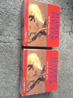 Harry Potter and the Goblet of Fire audio Book 17 Cd Disc read by Stephen Fry