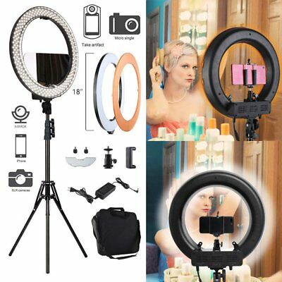 "Neewer 18"" Dimmable LED Ring Light Kit with Light Stand for Camera Photo Video"