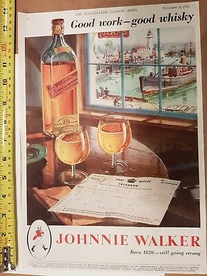 Johnnie Walker Vintage Magazine 1941 Advert