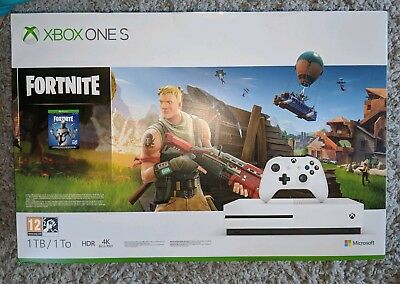 Xbox One S 1TB Fortnite Console with 2000 V-Bucks Brand New