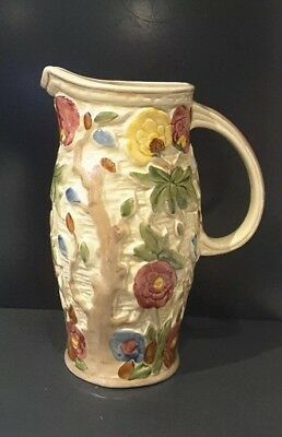 Indian Tree Handled Tall Jug by Wood Potters Of Burslem