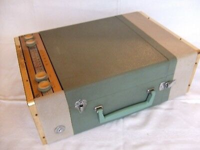 Crown Radio/Phonograph Stereo Portable/Mains Record Player 1950s Model STP - 40S