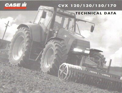 CASE CVX Series Technical Data Brochure. Near Mint Condition. 2001 Issue.