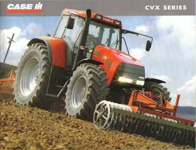 CASE CVX Series Brochure. Near Mint Condition. 2001 Issue.  24 Pages.