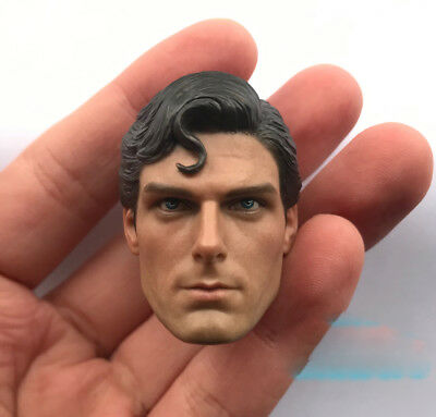 """1/6th Superman Christopher Reeve head sculpt  For 12"""" HT DAM Male Action"""