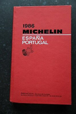Guide Rouge Michelin ESPANA PORTUGAL - 1986