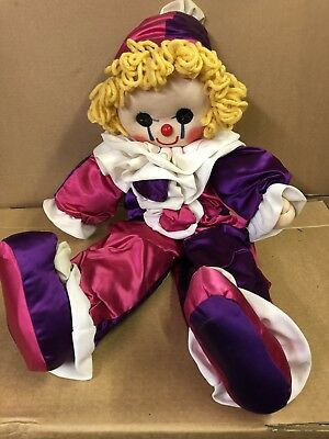 Vintage Handmade Collectible Clown Doll Celia