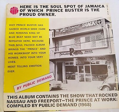 Prince Buster She Was A Rough Rider LP Blue Beat