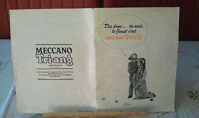 Rare brochure catalogue Meccano Triang France 1967-1968 aussi avec Dinky Toys