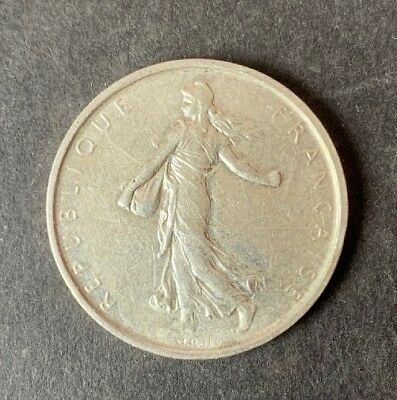 1963 FRANCE French LARGE SILVER 5 Francs Coin w La Semeuse SOWER WOMAN