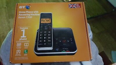 Brand New Bt Xenon 1500 Single Digital Cordless Telephone With Answering Machine