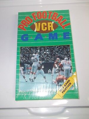 Pro Football VCR Game with Hot Game Footage - Interactive- nos