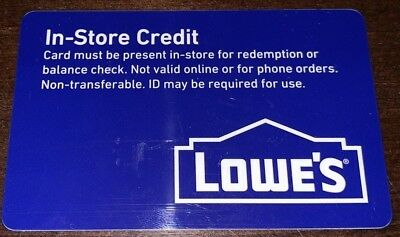 lowes gift card $342.34 mailed first class lowes gift card $342.34