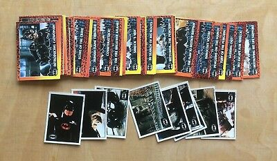 Topps Batman Returns 1992 Cards & Stickers Part Set 44/88 Cards & 9/10 Stickers