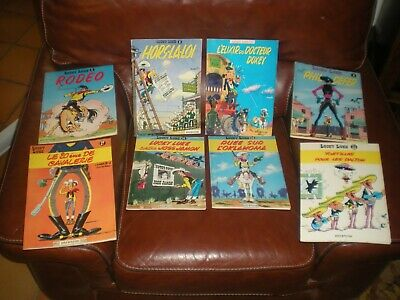 Lucky Luke - Lot De 8 Tomes Editions Anciennes Brochees (Souples)