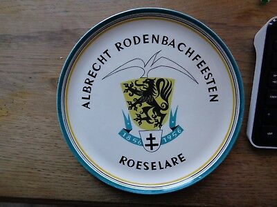 Albrecht Rodenbachfeest Roeselare 1956 reclame bord beer sign plate l