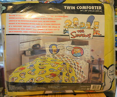 The Simpsons - Vintage Twin Comforter, Sheets, Blanket, Pillow - NEW
