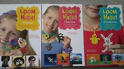 Loom Magic Xtreme!: 25 Awesome, Never-Before-Seen Designs 3 books Loom crafts