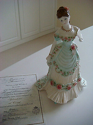 L/e Royal Worcester Figurine-A Royal Anniversary-Compton & Woodhouse+Cert
