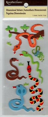 High Quality Recollections SNAKES~Dimensional Stickers~Gorgeous QUICK SHIP!