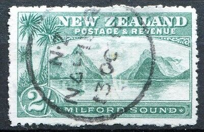 New Zealand 1906, SG 328a, 2s Blue Green, Perf 14, used, CV £42