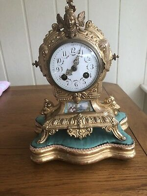 Antique French Boule Mantle Clock