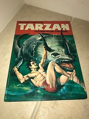 Tarzan Television Picture Story Book Vintage Annual Rare Edgar Rice Burroughs'