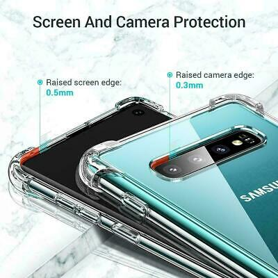 For Samsung Galaxy S8 S9 S10 Case Shockproof Silicone Protective Clear Gel Cover