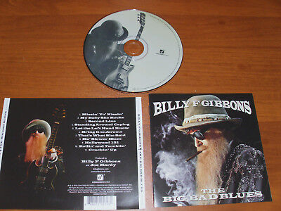"""Billy F Gibbons """" The Big Bad Blues """" 2018  Cd !  Zz Top"""