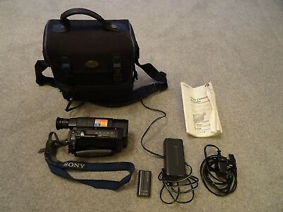 Sony Video 8 Handycam CCD-TR411E + Charger + 2 Batteries + case excellent cond.