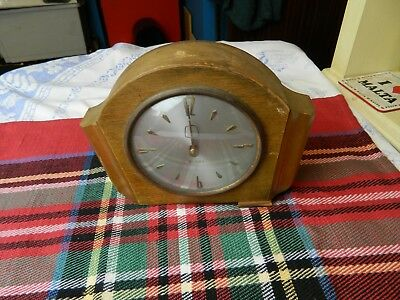 vintage Westclox wooden cased mantle clock