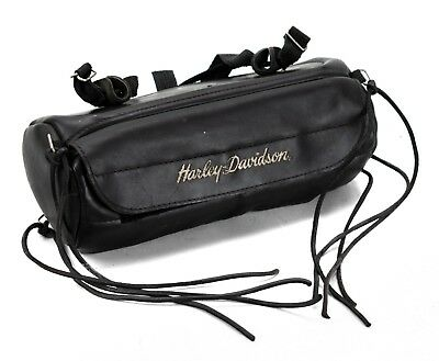 Genuine Harley-Davidson Script Leather Motorcycle Fork Tool Bag Universal USED