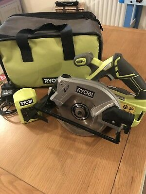 Ryobi One+ 18v Circular Saw with Battery Charger /Guide and Bag
