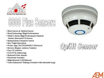 Protec 6000PLUS/OPHT/L Combined Smoke & Heat Detectors With Or Without VADS