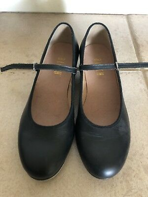 Bloch Techno Tap Jazz Dance Black Leather Shoes Mary Jane Womens size 7.5M