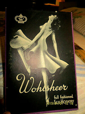 Art Deco Vintage Hosiery Box! Wohlsheer Silk Stockings!  Box Only!  No Stockings