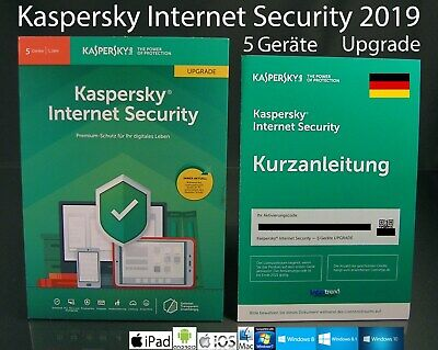 Kaspersky Internet Security 2019 Upgrade Box 5 Geräte (PC/Mac/Android) OVP NEU