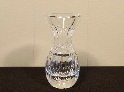 """Waterford crystal mini bud vase ribbed 4"""" tall marked"""