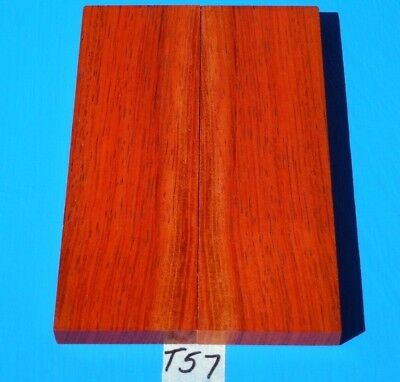 1 Pair Knife Scales Borneo Rosewood~Exotic Wood Lumber