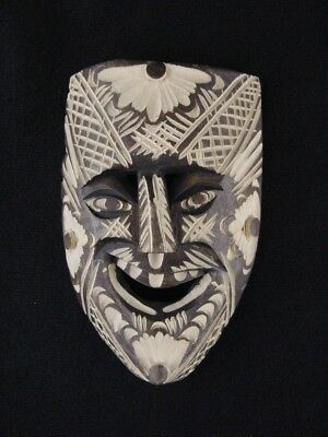 """Hand Carved 6"""" Wooden Tribal Mask"""