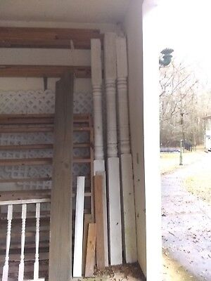 (7) Antique Architectural Salvage: White Colonial Porch Post/Pillar/Beam Columns